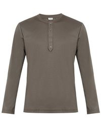 Zimmerli - Crew-neck Sea-island Cotton-jersey Pyjama Top - Lyst