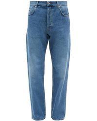 Loewe アナグラム テーパードジーンズ - ブルー