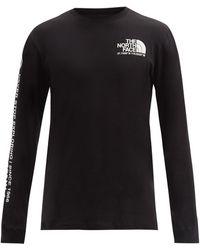 The North Face コーディネートプリント ロングスリーブtシャツ - ブラック