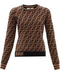 Fendi Ffジャカードセーター - ブラウン