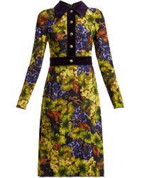 Dolce & Gabbana - Grape-print Cady Dress - Lyst