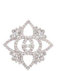 Gucci - Gg Crystal-embellished Brooch - Lyst