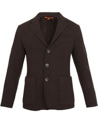 Barena - Square-jacquard Single-breasted Wool-blend Blazer - Lyst