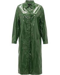 Sara Lanzi Point-collar Pvc Raincoat - Green
