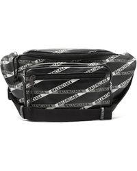 Balenciaga Explorer Printed Leather Belt Bag - Black