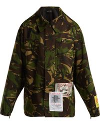 Martine Rose - Military Camouflage Print Jacket - Lyst