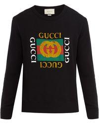 Gucci - Logo-print Cotton-jersey Sweatshirt - Lyst