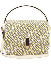 Valextra Iside Xy-print Leather Cross-body Bag - Multicolor