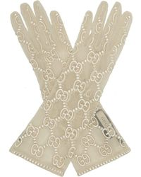 Gucci - GG-embroidered Lace Gloves - Lyst