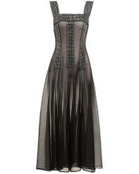 Christopher Kane Crystal Embellished Sheer Dress - Black