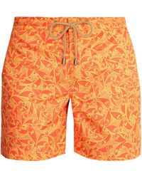 Thorsun Titan Fit Pescado Print Swim Shorts - Orange