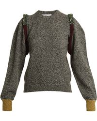Toga | Bead-embellished Wool-blend Knit Sweater | Lyst