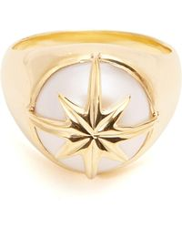 Theodora Warre - Star-motif Pearl And Gold-plated Ring - Lyst