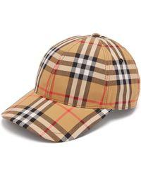 Burberry Vintage Check Cotton Baseball Cap - Multicolour
