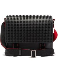 Christian Louboutin Loubiclic Spike-embellished Leather Cross-body Bag - Black