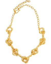 Sophia Kokosalaki - Agrifi Hooks Ii Gold Plated Silver Necklace - Lyst