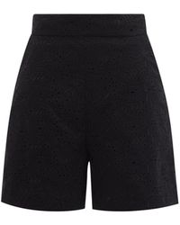 Three Graces London Robin High-rise Broderie-anglaise Shorts - Black