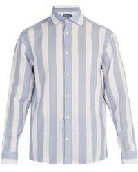 Frescobol Carioca - Striped Linen Shirt - Lyst