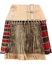 Chopova Lowena Tartan Recycled-tapestry Mini Skirt - Multicolour