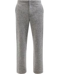 AURALEE Wool-jersey Track Pants - Gray