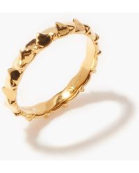 Dominic Jones Teeth 18kt Gold-plated Sterling-silver Ring - Metallic