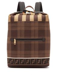 Fendi - Ff Technical Knit Backpack - Lyst