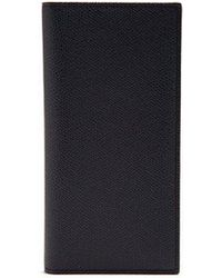 Valextra - Vertical Grained-leather Wallet - Lyst