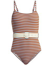 Solid & Striped The Nina Belted Swimsuit - Multicolour