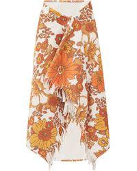 Dodo Bar Or Jupe en coton éponge mélangé imprimé floral Alice - Blanc