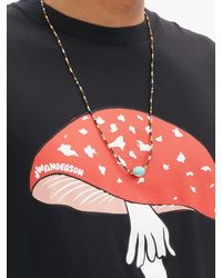 Luis Morais Turquoise & Onyx 14kt Gold Necklace - Metallic