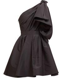 Carolina Herrera ワンショルダー ファイユドレス - ブラック