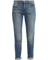 FRAME - Le Garcon Mid Rise Jeans - Lyst