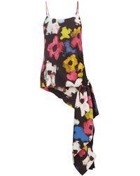 Colville Asymmetric Floral-print Top - Multicolour