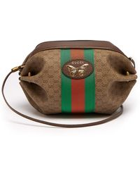 09b575cc075aa8 Gucci - Gg Supreme Mini Canvas And Leather Cross Body Bag - Lyst