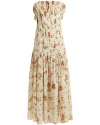 Brock Collection - Dosey Roses Floral Print Cotton Dress - Lyst