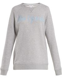 The Upside - St Tropez Sid Cotton Logo Sweatshirt - Lyst