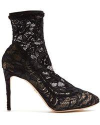 Dolce & Gabbana - Lace Sock Boots - Lyst