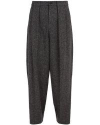 Deveaux - Herringbone Wool Blend Trousers - Lyst