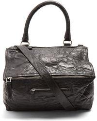Givenchy - Pandora Medium Paper-leather Bag - Lyst