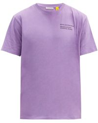 7 MONCLER FRAGMENT ロゴプリント コットンtシャツ - パープル