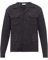 Sasquatchfabrix. Topstitched Shirt Jacket - Black