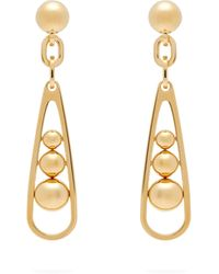 Prada - Ball Embellished Drop Earrings - Lyst