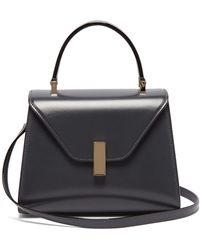Valextra Iside Mini Leather Bag - Grey