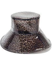 Maison Michel Bob en PVC à imprimé léopard Charlotte - Gris