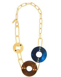 Marni - Chain And Disc Necklace - Lyst