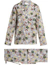 Erdem Dillan Floral Print Cotton Pajamas - Multicolor