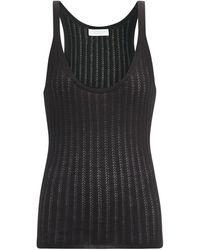 Gabriela Hearst Nevin Pointelle-stitched Cashmere-blend Tank Top - Black