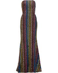 Mary Katrantzou Ava Flared Sequinned Gown - Black