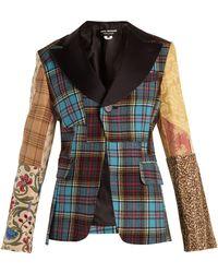 Junya Watanabe - Tartan-checked Contrast-sleeve Wool-blend Jacket - Lyst