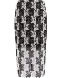 Diane von Furstenberg | Bi-colour Lace Pencil Skirt | Lyst